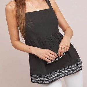 Anthropologie Olivia Embroidered Top